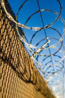 Free Barbed Wire Fence Stock Image - 82980141