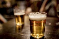 Free Glasses Of Beer On Table Royalty Free Stock Photos - 82980158