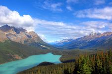 Free Blue Lake Near Mountains Under Blue And White Sunny Cloudy Sky Royalty Free Stock Images - 82980279