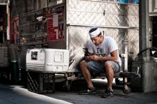 Free Adult Worker Using Mobile To Text At Work Royalty Free Stock Images - 82980779