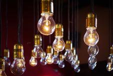 Free Array Of Light Bulbs On Black Stock Photos - 82980843