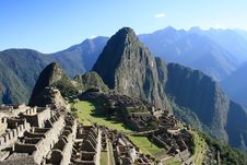 Free Machu Picchu Temple Ruins In Peru Stock Photos - 82980863