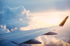 Free Airplane Wing In Clouds Stock Photography - 82981332