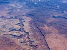 Free Aerial View Of Desert Canyon Stock Image - 82981861