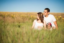 Free Family On Field Stock Image - 82981901