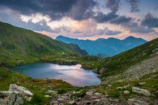 Free Alpine Lake At Sunset Stock Photo - 82982450