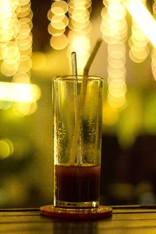 Free Glass On Bar With Red Beverage Royalty Free Stock Photos - 82983278