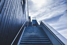 Free Exterior Staircase Against Blue Skies Stock Photo - 82983680