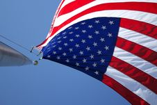 Free American Flag On Flagpole Stock Images - 82983704
