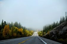 Free Empty Country Road In Fog Stock Image - 82983711
