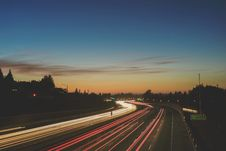 Free Blur Of Traffic At Sunset Stock Photography - 82983942
