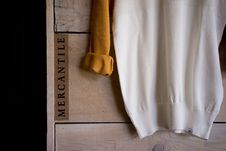 Free Clothes Hanging On Old Wood Royalty Free Stock Photography - 82983997