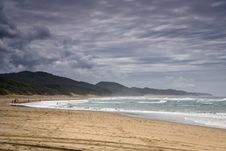 Free Sandy Beach With Storm Clouds Stock Image - 82984201