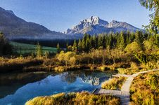 Free Pond In Mountain Valley Royalty Free Stock Photos - 82984208