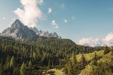 Free Mountain Forest Landscape Royalty Free Stock Photo - 82984225