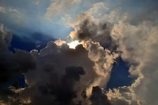 Free Gray Clouds Cover Sun Under Blue Sky Royalty Free Stock Photo - 82984795