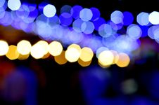 Free Bokeh With Blue And Yellow Lights Stock Image - 82984861