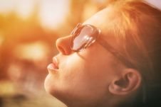 Free Girl In Golden Light Royalty Free Stock Image - 82984886
