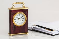 Free Clock And Appointment Book Royalty Free Stock Image - 82985186