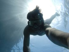 Free Selfie Of Snorkeler Royalty Free Stock Photo - 82985205