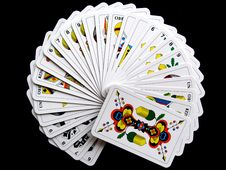 Free White And Yellow Playing Cards Royalty Free Stock Photo - 82985565