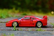 Free Toy Red Ferrari Stock Images - 82986054