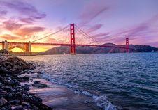 Free Sunset At Golden Gate Bridge, San Francisco, California Stock Photography - 82986142