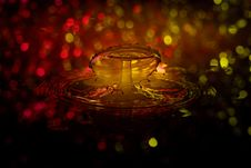 Free Water Drop With Bokeh Lights Royalty Free Stock Photo - 82986285
