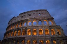 Free Roman Coliseum, Rome, Italy At Night Stock Images - 82986354