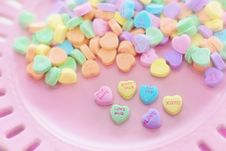 Free Heart Candy On Plate Stock Image - 82986371