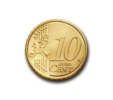 Free Ten Cent Euro Coin  Royalty Free Stock Photo - 82986545