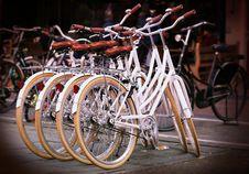 Free White Ladies Bicycles Royalty Free Stock Photos - 82986548