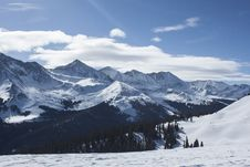 Free Black Snow Covered Mountain Ranges Under White Clouds And Blue Sky At Daytime Royalty Free Stock Photo - 82986735