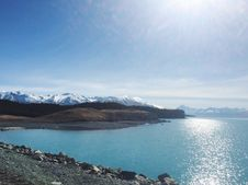 Free Blue Alpine Lake  Royalty Free Stock Image - 82986766