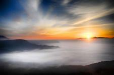 Free Sunrise Over Mountain Stock Image - 82986841