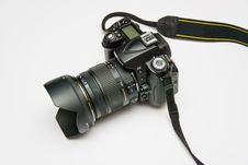 Free Black Dslr Camera On White Surface Royalty Free Stock Photos - 82986918