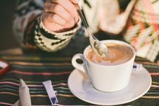 Free Cup Of Cappuccino Stock Image - 82986941