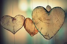 Free Brown Heart Shaped Hanging Decor Royalty Free Stock Photography - 82987097