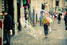 Free Closeup Of Soap Bubble In City Stock Photo - 82987210