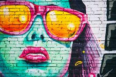 Free Portrait Of Woman As Graffiti Stock Image - 82987211