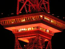 Free Red Metal Tower At Nighttime Royalty Free Stock Image - 82987426