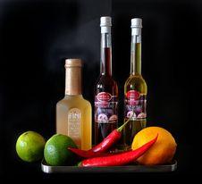 Free Cranberry Oil And White Vinegar Stock Photo - 82987490