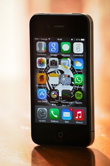 Free Black Iphone 4 Stock Image - 82987851