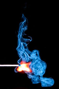 Free Lighted Match With Smoke On Black Background Royalty Free Stock Images - 82987879