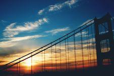 Free Golden Gate Bridge Under Blue Skies During Sunset Stock Image - 82988121