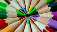 Free Green Pink Blue Red Yellow Color Pencils Royalty Free Stock Image - 82988176