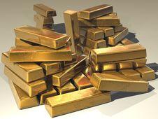 Free Gold Bars Stock Image - 82988241