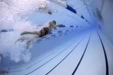 Free Man In The Swimming Pool Royalty Free Stock Photos - 82988468