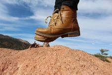 Free Person Wearing Brown Leather Work Boots During Daytime Royalty Free Stock Image - 82988586