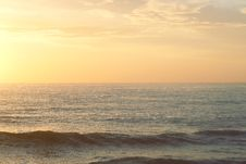 Free Ocean Waves At Sunset Stock Images - 82988624